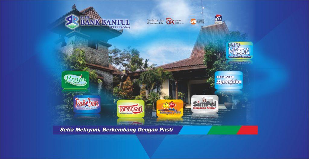 Halaman Home Web Bank Bantul Produk BB