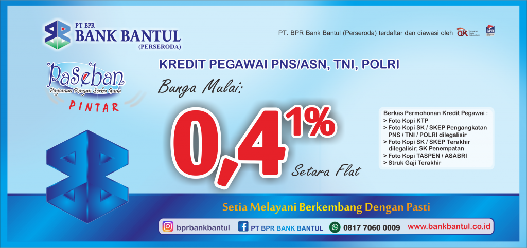 Halaman Home Web Bank Bantul Paseban Pintar 0,41%